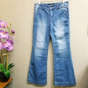 Lucky Brand flare med wash jeans